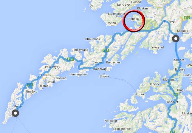Moskenes-Lødingen-Bodø